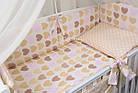 Комплект постельного белья Asik Сердечка с горошком бежевые и розовые 8 предметов (8-212), фото 4