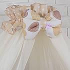 Комплект постельного белья Asik Сердечка с горошком бежевые и розовые 8 предметов (8-212), фото 6