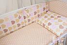 Комплект постельного белья Asik Сердечка с горошком бежевые и розовые 8 предметов (8-212), фото 2