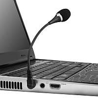 Зовнішній компактний мікрофон Kandi з гнучким кабелем для комп'ютера, ноутбука, фото-відеокамер,3 піна