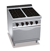 Инфракрасная плита GGM EIB899M+EB4U 4 конфорки 16 кВт + печь конвекционная электрическая - 3,5 кВт