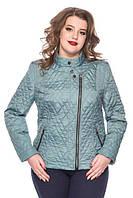 Классическая демисезонная куртка стеганная больших размеров 50 батал, фото 1