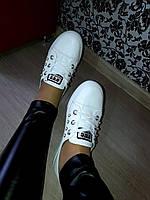 Белые мокасины. женские кеды , фото 1