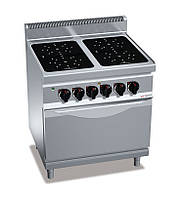 Инфракрасная плита GGM EIB899M+EB8S 4 конфорки - 16 кВт + шкаф духовой электрический - 7,5 кВт