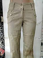 Брюки женские лен с карманами