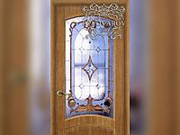 Классические витражи Тиффани в двери