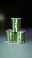 Лента зеленая, тесьма для шариков - 5 мм, 400м