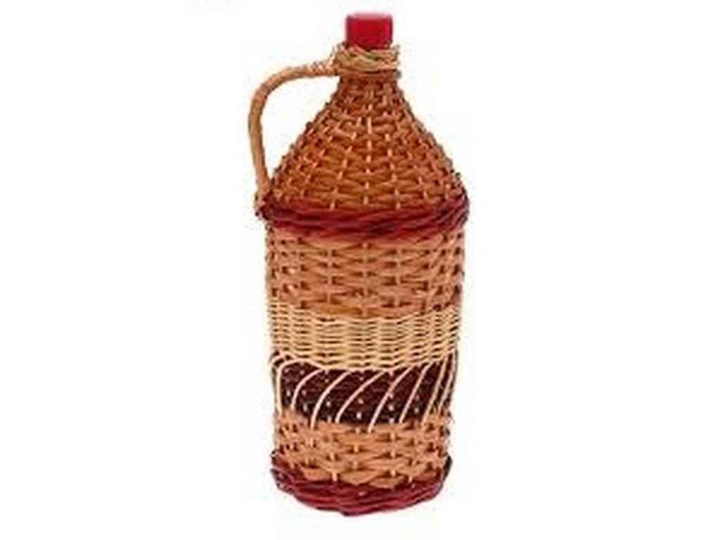 "Бутылка стеклянная для вина 2 литра Виноград ""GLASS GO"""
