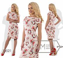Женское платье из вискозы с цветочным принтом
