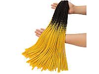 Канекалон T1B/YELLOW для плетения косичек пряди накладные цветные