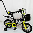 """Детский Велосипед c родительской ручкой от 3 лет """"HAMMER-12"""" S600, фото 2"""