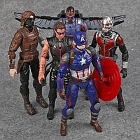 Набор Марвел Супергерои 5 шт. 17 см. Мстители Бетмен Халк Супермен Тор Кап. Америка Железный человек, фото 1