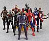 Набор Марвел Супергерои 10 шт. 17 см. Мстители Бетмен Сокол Супермен Тор Кап. Америка Железный человек