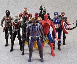 Набор Марвел Супергерои 10 шт. 15 см. Мстители Спайдермен Тор Капитан Америка