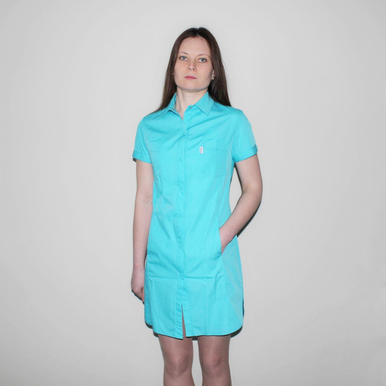 Легкий літній медичний жіночий халат SM 1255-3 Bella хб 42-56р