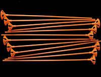 Палочки+Насадки оранжевые 1 уп.-100 шт