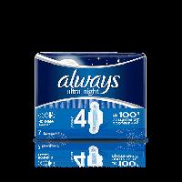 """Гігієнічні прокладки """"Always ультра нічні"""" 6 крапель (7шт.)"""