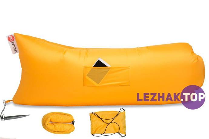 Надувной шезлонг - ЛЕЖАК.ТОР Premium - желтый