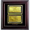 Золотые 100 грн двусторонняя в деревянной рамке.