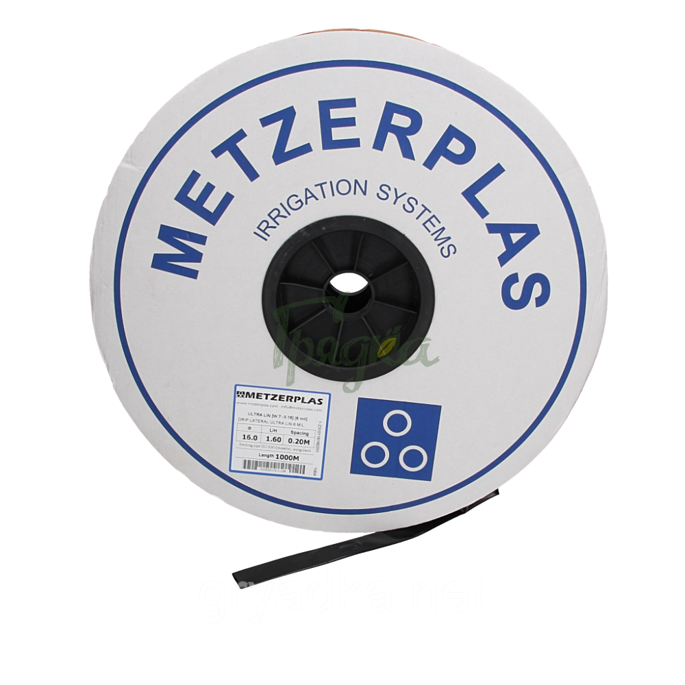 Капельная лента 8 mil, 20 см эмиттерная Metzerplas 500 м