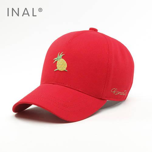 Кепка бейсболка, Ананасик, Хлопок, Красный, Inal