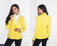 Женский пиджак (48, 50, 52, 54, 56, 58) — коттон мемори