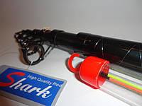 Удилище фидерное телескопическое Dunkan 3,3 50-150гр карбон