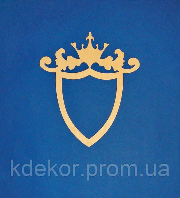 Весільна рамка (Герб) заготівля для декору (висота 59см.)