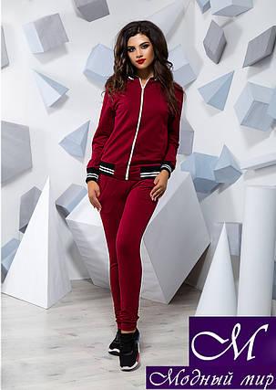 Женский бордовый трикотажный спортивный костюм (р. S, M, L) арт. 16083, фото 2
