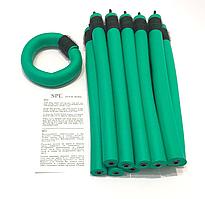 Бигуди Папильотки (бумеранги) с липучкой длинные зеленые, (250 мм/20 мм)