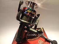 Катушка рыболовная карповая KAIDA KX-60 с бейтранером 3 подшипника