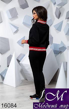 Женский черный трикотажный спортивный костюм (р. S, M, L) арт. 16084, фото 2