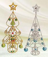 Декоративная елка с шарами 35см, 2 вида