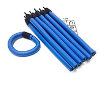 Бигуди Папильотки (бумеранги) с липучкой длинные синие, (250 мм/15 мм)