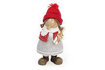 Декоративная фигурка Девочка 22см, цвет - красный с серым