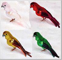 Декоративная птица Попугай 12см, 4 вида