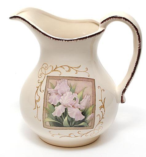 Кувшин керамический 1280мл Розовый ирис