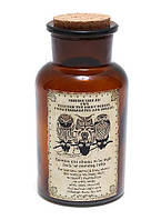 Декоративная бутылочка 13.5см с рисунком и пробкой Совы