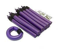 Бигуди Папильотки (бумеранги) с липучкой короткие фиолетовые, (180 мм/18 мм), фото 1