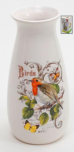 Ваза керамическая 21см Птицы