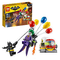 Конструктор Lepin «Побег Джокера на воздушном шаре (Серия Bathero)»124 дет.