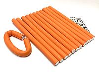 Бигуди Папильотки (бумеранги) без липучки длинные оранжевые, (250 мм/18 мм), фото 1
