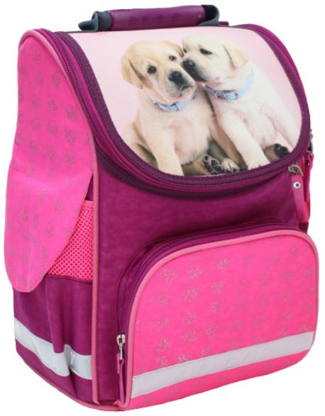 Рюкзак школьный Успех малиновый Два щенка