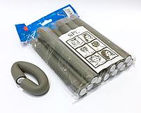 Бигуди Папильотки (бумеранги) без липучки короткие серые , (180 мм/20 мм), фото 1