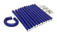 Бигуди Папильотки (бумеранги) без липучки короткие синие , (180 мм/15 мм), фото 1