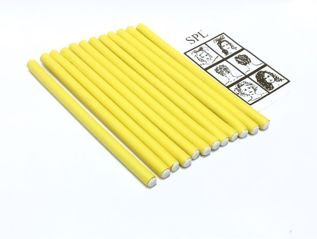Бигуди Папильотки (бумеранги) без липучки короткие желтые, (180 мм/10 мм)