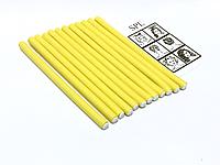 Бигуди Папильотки (бумеранги) без липучки короткие желтые, (180 мм/10 мм), фото 1
