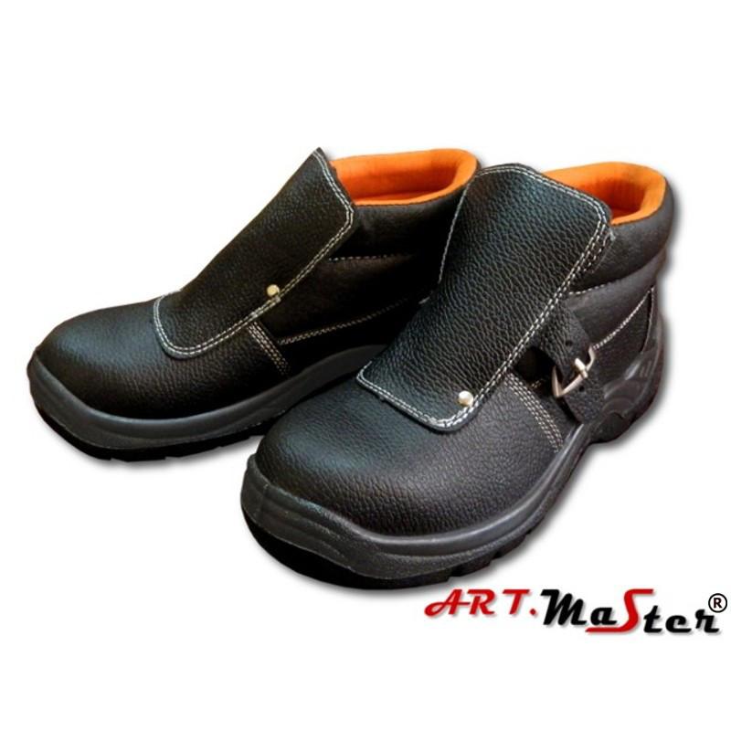 Ботинки сварщика кожаные с защитным подноском Натуральная кожа Цвет черный Размеры: 38-47