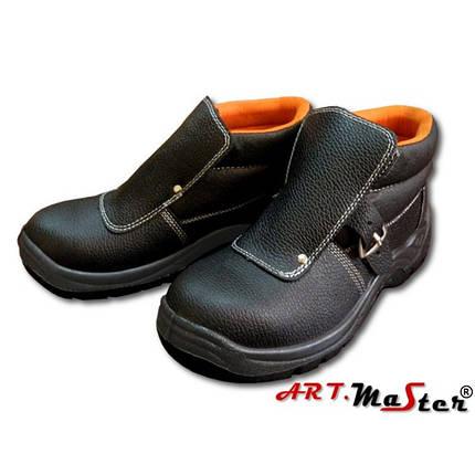 Ботинки сварщика кожаные с защитным подноском Натуральная кожа Цвет черный Размеры: 38-47, фото 2
