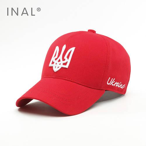 Кепка бейсболка, Ukraine, L / 57-58 RU, Хлопок, Красный, Inal